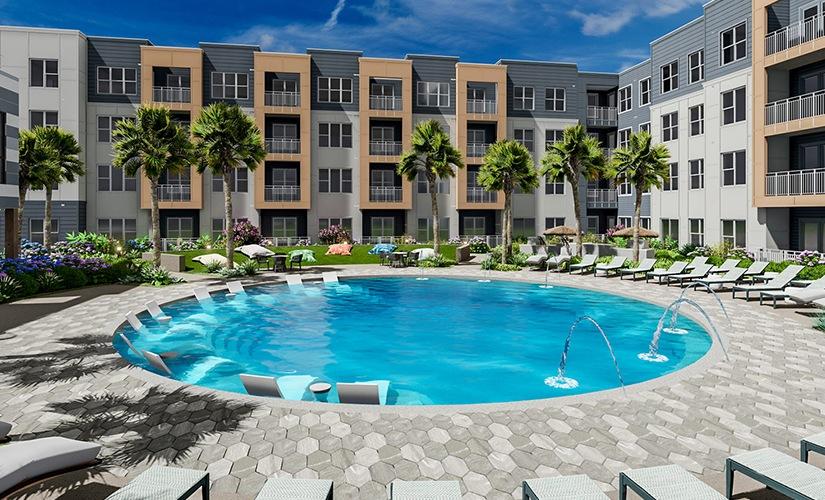 Unit A3 + Pool Courtyard